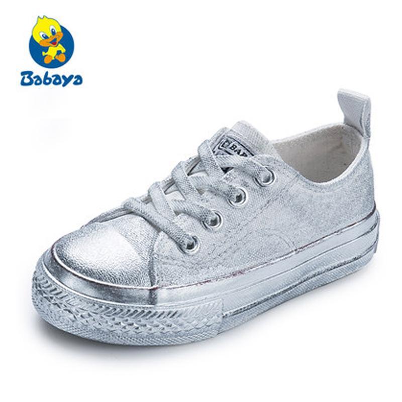 Zapatos Amarillo Zapatillas Deporte Niñas Color Caramelo Otoño Niños Cordones Rojo De 2018 Lona Primavera Para Infantiles WHID9E2