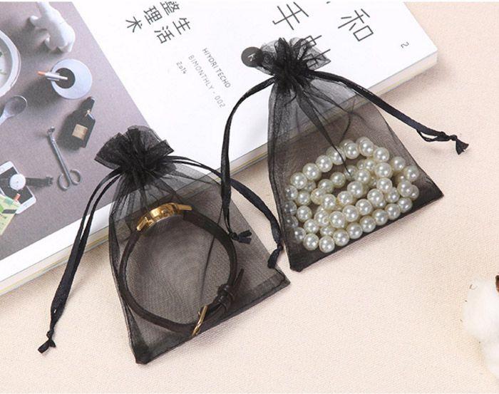 Sieraden Organza Gift Bag 4in X 6in 10x15cm Pack van 100 Travel Drawstring Pouch