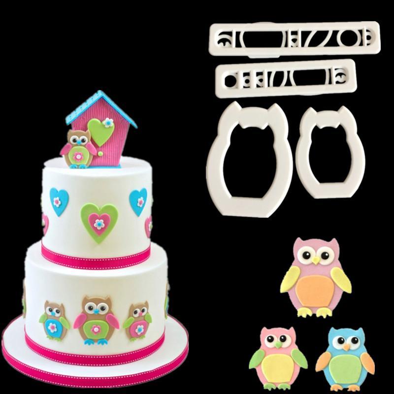 2019 Cute Owl Cake Cutter Fondant Mold Cake Jelly Cookie Sugar
