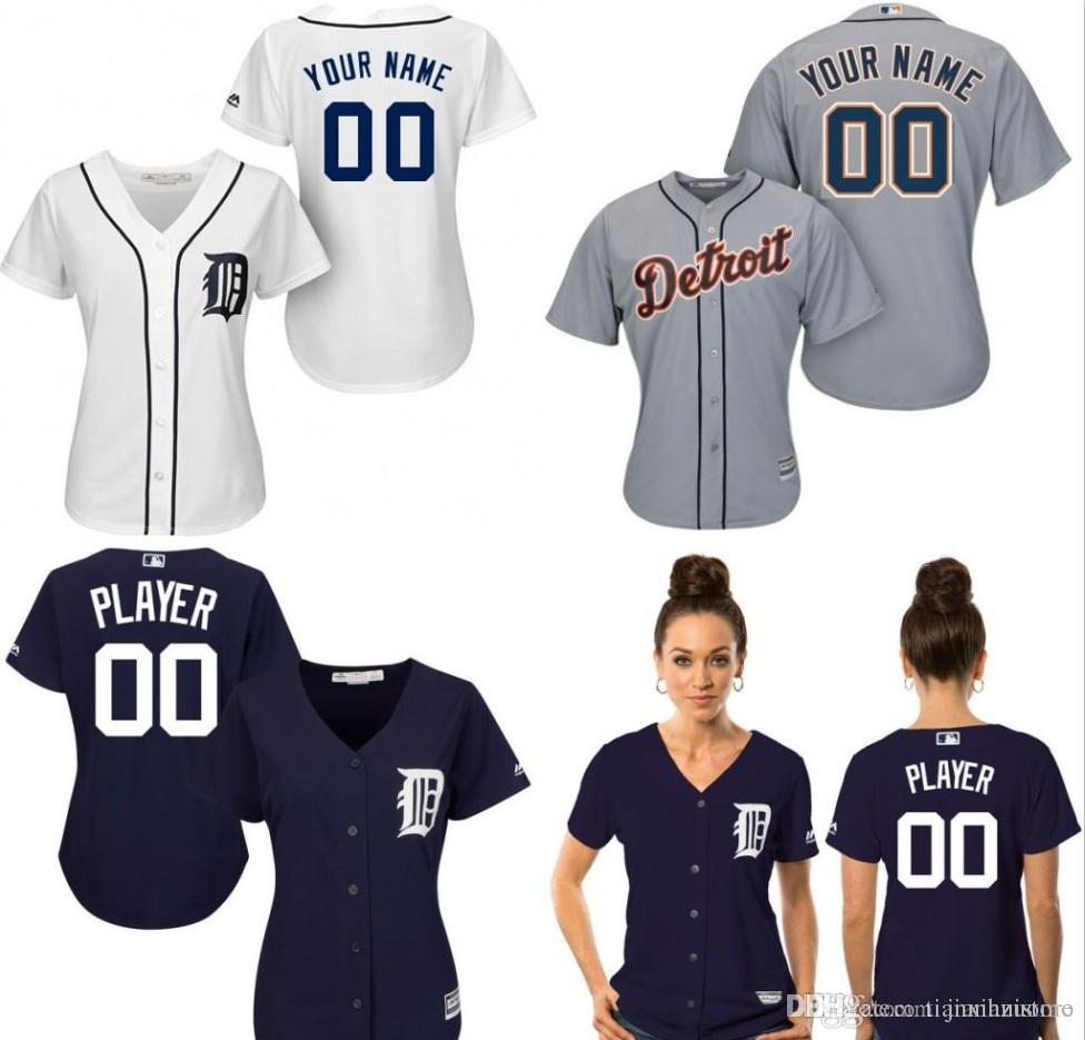 premium selection ef3e6 28966 Customized Dt Tigers jersey womens baseball jerseys shirt custom logo  Personalized 100% Stitched bests by dr china S-XXL