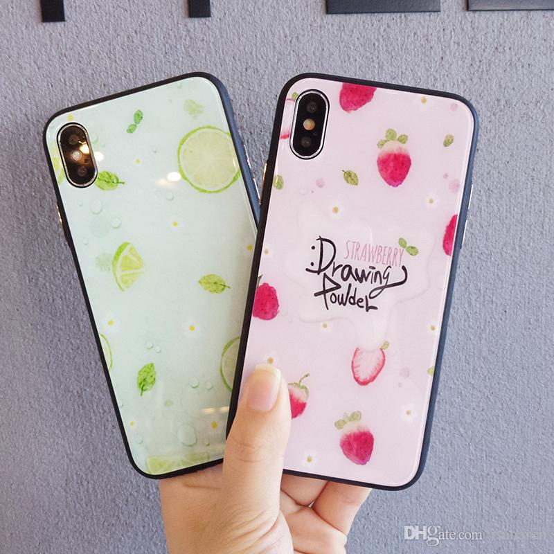 Cool Summer Fun Fruit Pattern Soft Phone Case For Apple iPhone 6 6S 7 8 Plus X Back Cover