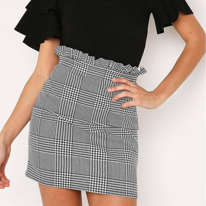 507f3d0f7e 2019 Summer Autumn Sexy Skirt Women Bottoms Fashion Plaid A-line Ruffles  Sexy Club Regular Outwear Women Skirts Female Online with $30.96/Piece on  ...