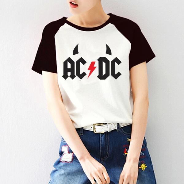747c95ccb05 ACDC T Shirt Raglan Short Sleeve Graphic Print Tshirt Female Tee Shirts  Clothes Rock N Roll Punk T Shirt Woman Clothes Funny Screen Tees Best  Online Site ...