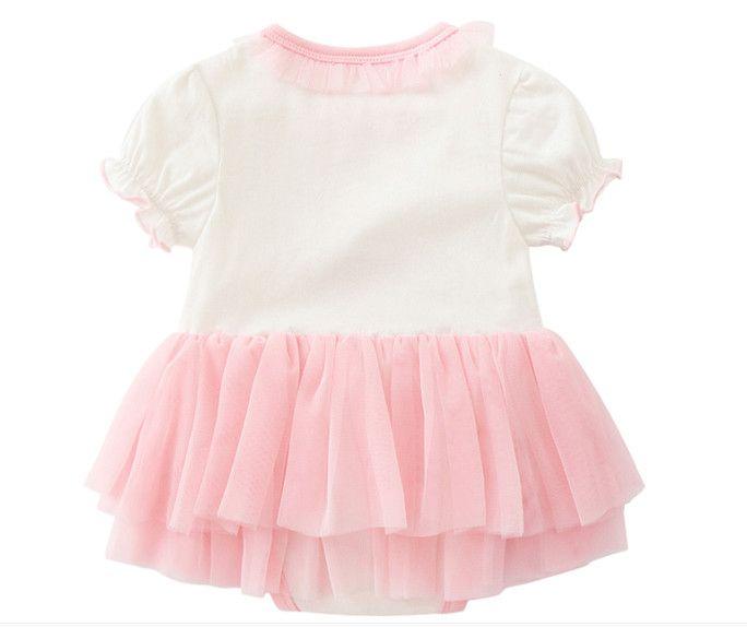 Neonato Neonata cotone Flamingo triangolo Pagliaccetti Vestiti vestiti 2018 Ragazze manica corta stampato Tuta infantile tute di estate 0-12 M