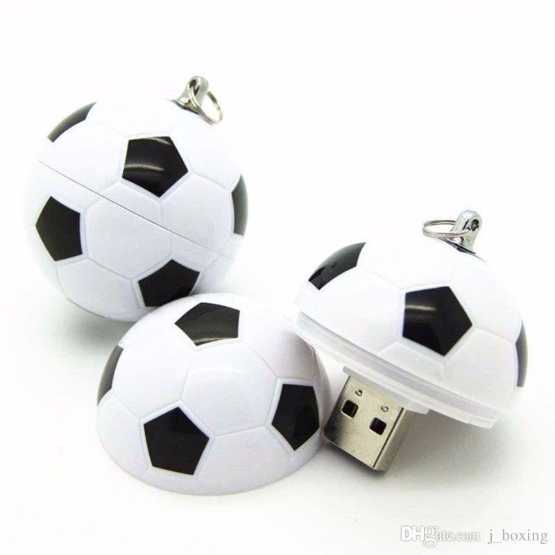 New 2018 World Cup Cartoon Football Flag 16G 32G USB 2.0 Flash Drives Soccer Team Fans Gift for PC Laptop USB Memory Stick Thumb Pen Drive