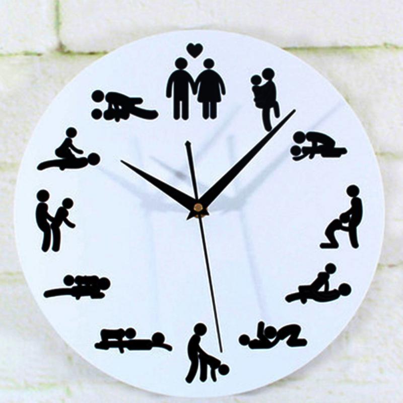 994c4565dd6 Compre 2016 Novo Relógio De Posição Do Sexo Moderno Novidade Relógio De  Parede Silencioso Para O Amante Do Casamento Sexual Cultura Parede Relógios  Home ...