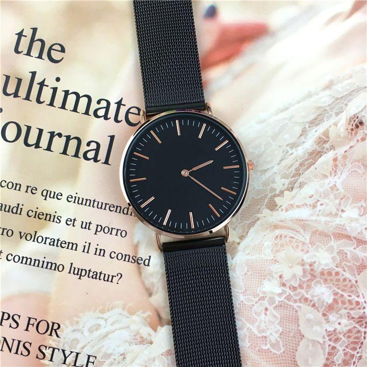 2018 Art- und Weiseheiße Verkaufsfrauen / Mann Uhrliebhaberarmbanduhr kühle schwarze Dame Quarz geben Kasten frei Großhandelspreis hochwertiger Geschenk-Zusatz-Luxus