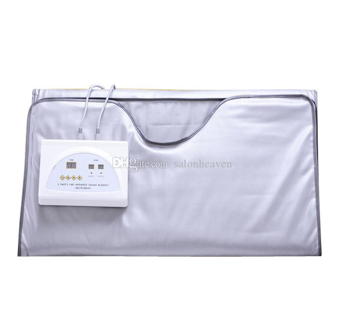 2 Zone Far Infrared Heating Blanket Lymph Drainage Body Slimming Sauna Blanket Weight Loss Detox Heating Spa Machine