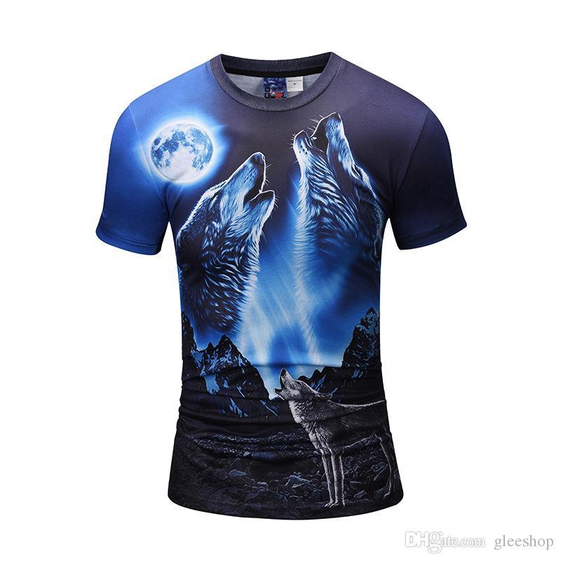 03b7e326970 2018 Newest Summer Fashion 3D Hungry Wolf Legend Printing T-shirt Men Women s  Short Sleeve Summer Tops Tees Female 3D Cartoon T Shirt Digital Print T- Shirt ...
