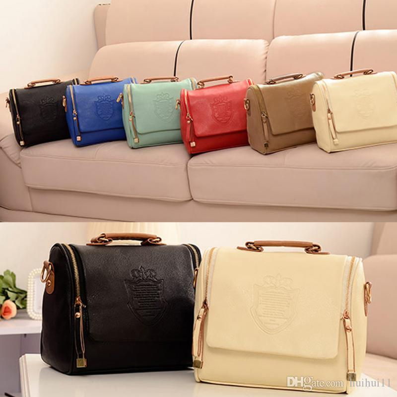 Bags For Women 2018 New Collection Pu Leather Crown Shoulders