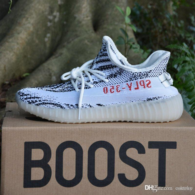 With Box Originals 350 V2 Boost Kanye West 2017 Top Quality Running Shoes Zebra Bred Black Orange Stripes Sneakers Size 36-46 lowest price cheap price cheap exclusive for cheap price cheap sale sneakernews free shipping eastbay VrqwCY1VEx