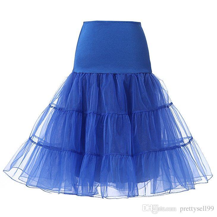 Короткие свадебные юбки Кринолин старинные свадебные свадебные свадьбы 2020 для свадебных платьев Подключите юбку Rockabilly TUTU Rock и Ballet юбка