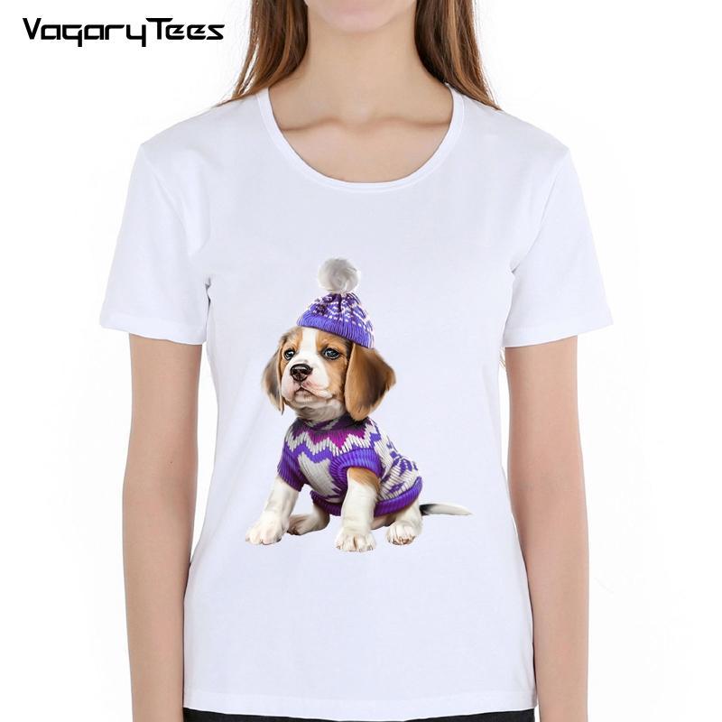 b7a8f7663d61 Newest Cute Puppy pug Printed T-shirt Women's Customied Sweater dog T Shirt  Summer Casual Streetwear Tee Tops