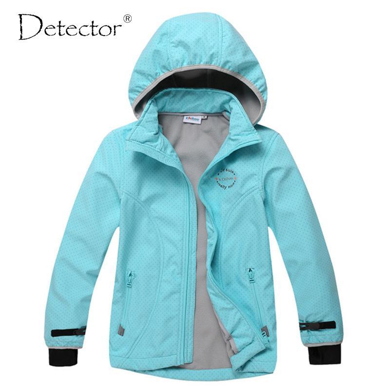 c6fd6657ecc9 2019 Detector Big Girl Softshell Jacket Bule Grey S XL Y1893006 From ...