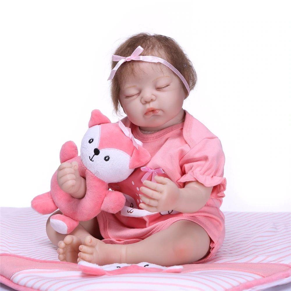55cm Reborn Baby Doll Soft Silicone Vinyl Reborn Baby Girl Dolls