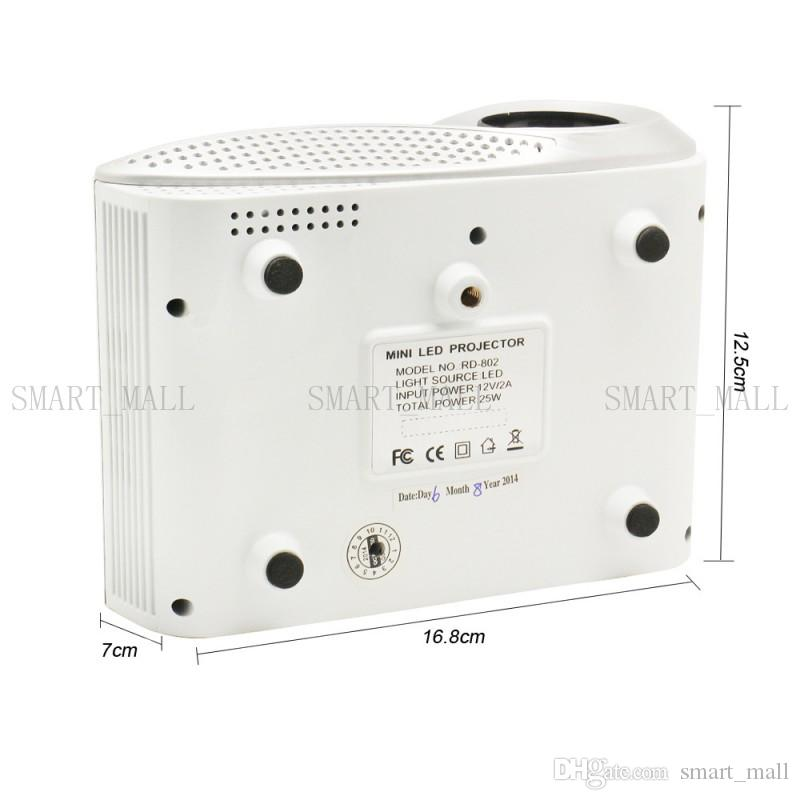 2017 neueste LED mini Tragbare Video Pico Micro Kleine Mini Projektor LED Mini Projektor Heimkino Unterstützung AV TV VGA HDMI