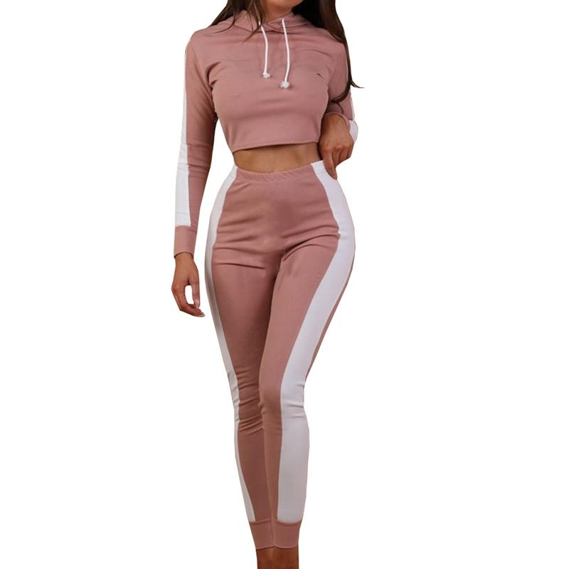 34053cb7b 2019 Satin Two Piece Set Tracksuit For Women Elegant Top And Pants Set 2018  Womens Casual Sweat Suits Fitness Autumn Outfits From Honey333