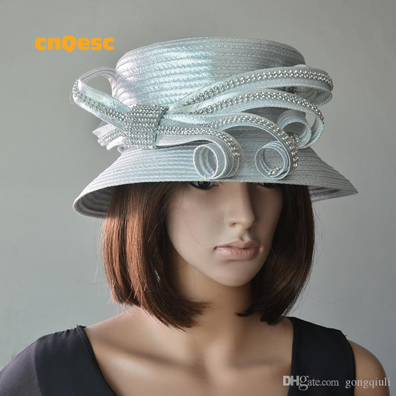 Silver Satin Dress Hat For Church. Hat With Veil For Wedding Hats At  Weddings From Gongqiuli 0e90a08c41a