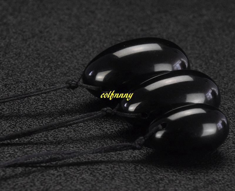 Black Obsidian Yoni Egg Stick Vaginal Globules Crystal Massage Wand Ben Wa Balls Jade Eggs For Women Kegel Exerciser
