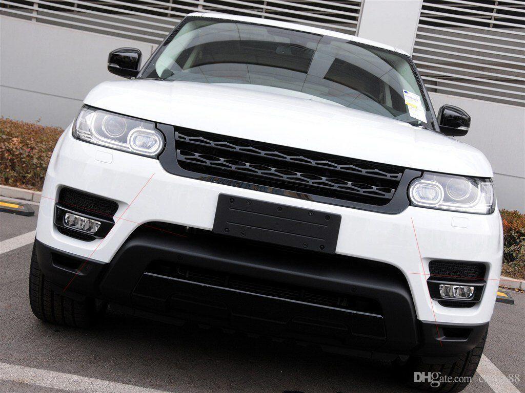 Chrome Gloss Black Front Lamp Light Cover Trim For Land Rover Range Rover Sport 2014-2017 Car Accessory