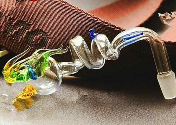Dos bote de dragón anillo, venta al por mayor de cristal Bongs Accesorios, Vaso de agua que fuma del tubo, envío libre