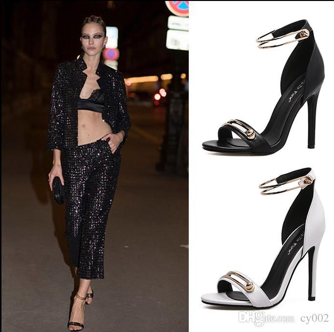 e5a0c2f4c41e Women Pumps Fashion High Heels Women Heel Shoes Black White Summer Sandals  Ladies Shoes Pumps Online with  38.86 Pair on Cy002 s Store
