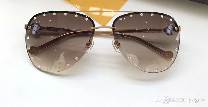 3cdd2778376 Classic The Party Pilot Sunglasses With Stones Gold Brown Gradient Occhiali  Da Sole Luxury Designer Sunglasses Gafas De Sol New With Box Prescription  ...