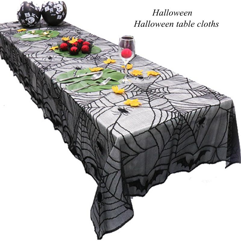 Halloween Table Banner Tablecloth Ghost Festival Party Banquet Table  Decoration Halloween Decoration Door Decor Curtain Products Tablecloths  Online Cheap ...