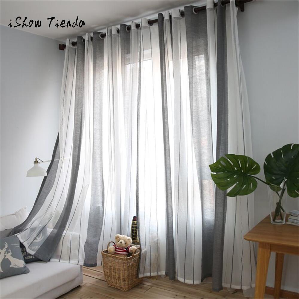 2019 Gray Sheer Curtain Tulle Window Treatment Voile Drape Valance 1 ...