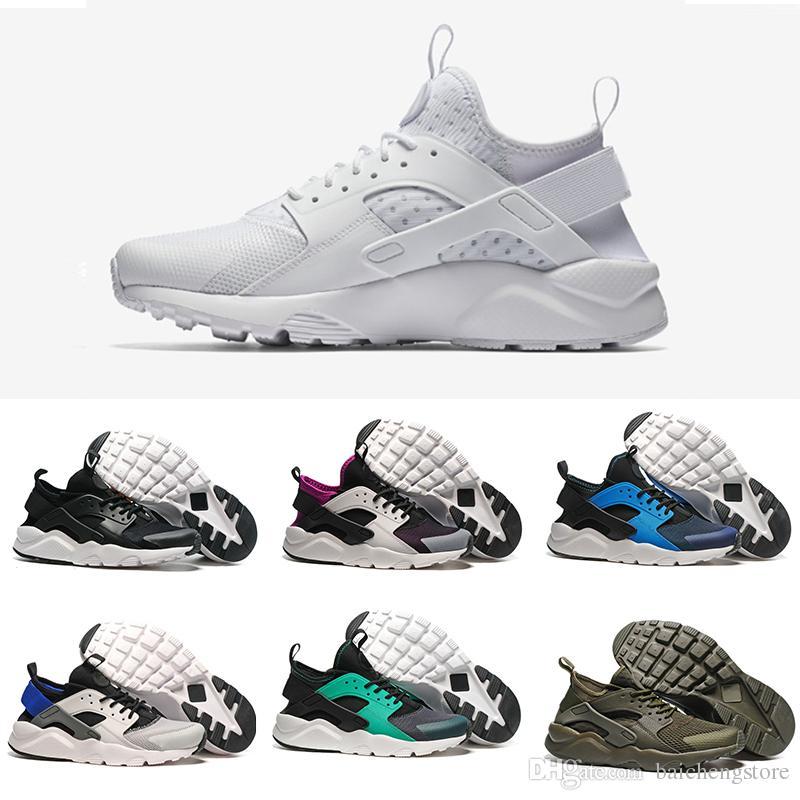 new product f5358 f0d52 Acheter Nike Air Huarache 2018 Huarache Ultra BR IV 4.0 5.0 Chaussures De  Course Huraches Baskets Pour Homme Femmes Multicolor Triple Noir Blanc  Chaussures ...