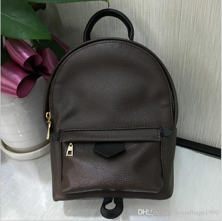 هايت نوعية المرأة بالم سبرينغز البسيطة حقيبة جلد طبيعي الأطفال حقائب النساء الطباعة الجلود الأزياء البسيطة حقيبة