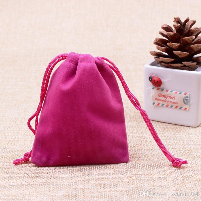 الجملة مختلط لطيفة النسيج الصينية القماش أكياس هدية عيد الميلاد فلانيليت من جلد الغزال المخملية أكياس التعبئة كيس مجوهرات