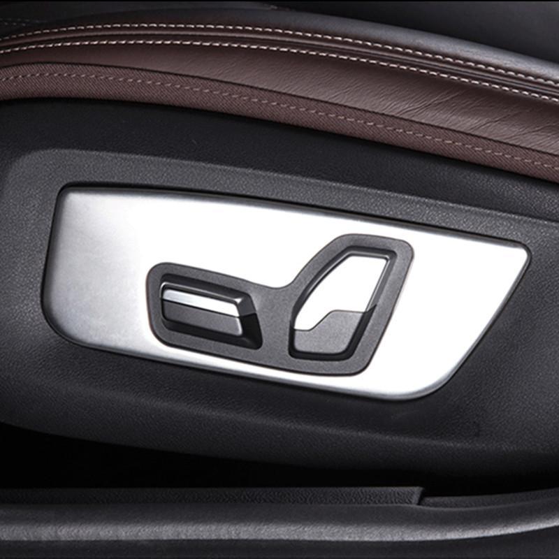Chrome ABS 2pcs Car Front Seat Adjustment Panel Decoration Cover Trim For  BMW 5 Series G30 G38 2018 Auto Interior Accessories