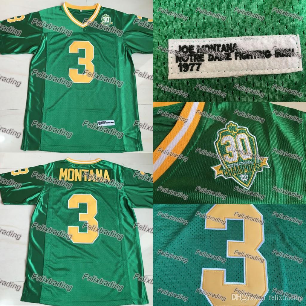 c8e1311de  3 Joe Montana Jerseys Notre Dame Fighting Irish Joe Montana 100% Stitched  Jersey Men Fast Joe Montana Jersey Stitched Jersey Movie Jersey Online with  ...