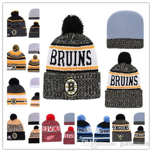 Boston Bruins Knit Hat Hockey Beanies Caps Ice Hockey Knit Beanies Hat  Embroidery Cap Embroidered NEW JERSEY DVILS Stitched Hats One Size Canada  2018 From ... 9bcf350e7cc