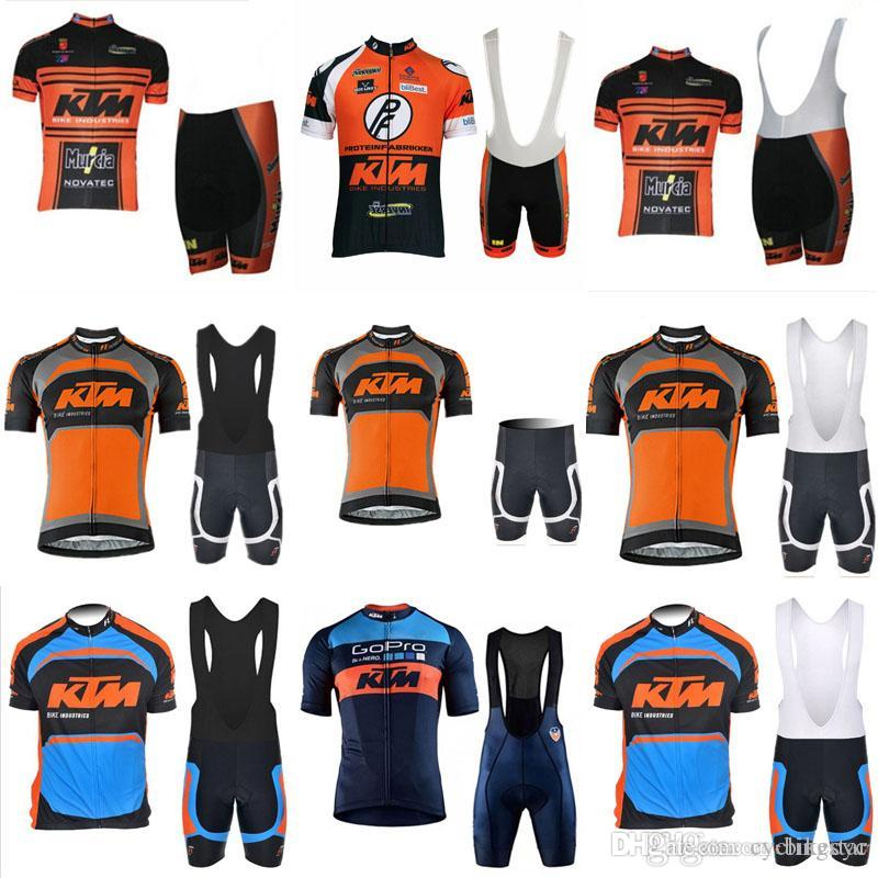 KTM Cycling Short Sleeves Jersey Bib Shorts Sets Men S Outdoors MTB Running  Bicycle NEW Riding Bike Clothes Sportwear F1411 Funny Cycling Jerseys Custom  ... a2e29e3b2
