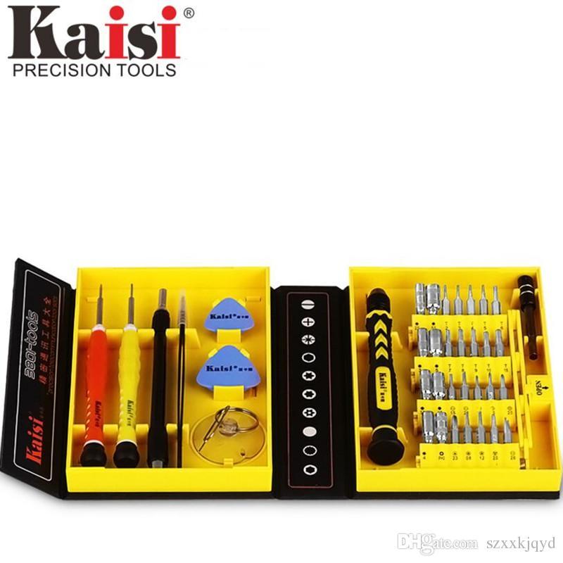 Kaisi multiuso 38 em 1 chave de fenda de precisão kit telefone ferramentas de reparo de abertura definido para iphone 4 / 4s / 5/6/7/8 mais ipad samsung