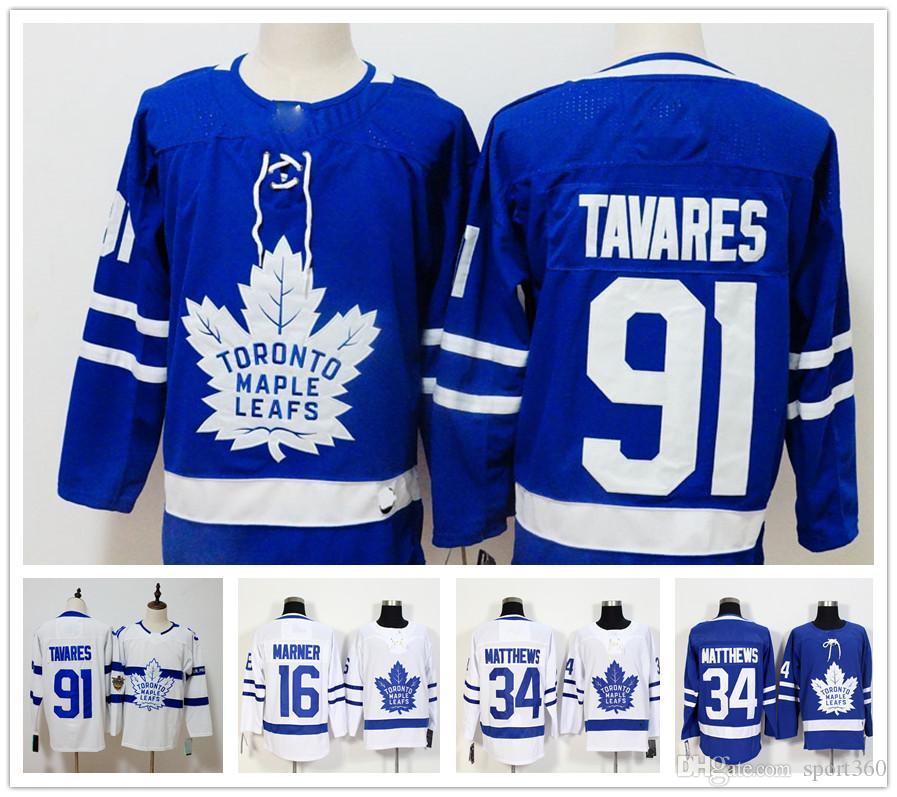 2019 2018 New 91 John Tavares Toronto Maple Leafs Hockey Jersey Men 16  Mitch Marner 34 Auston Matthews Jerseys Embroidery Logos From Sport360 6ed9ddc8d9431