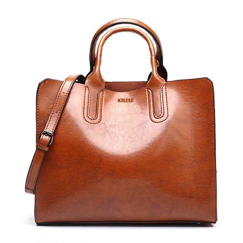 8b5e35fd46 Leather Handbags Big Women Bag High Quality Casual Female Bags Trunk ...