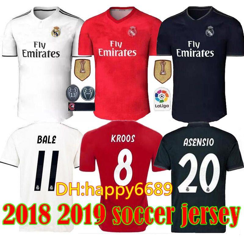da31fad7a5 2018 2019 Real Madrid Jersey 18 19 Home Away Soccer Jerseys MODRIC ...