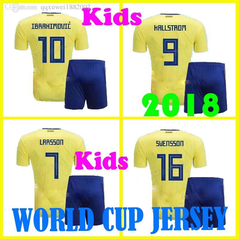 faa1bf4ae 2019 Thai Quality Kdsi 2018 Sweden Soccer Jersey Ibrahimovic Maillot De  Foot 2017 TOIVONEN Larsson Ljungberg Camisas Maillot Football Shirt From ...