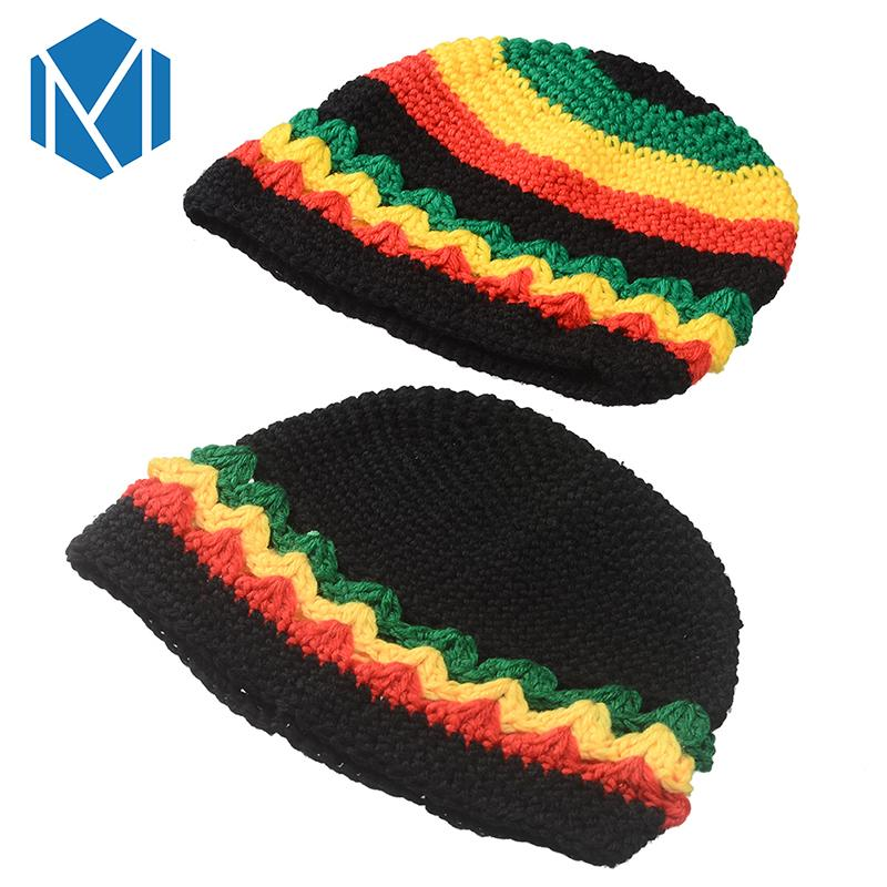 dc7d69470e2 2019 Miya Mona 2018 Women Men Novelty Ranbow Striped Knitted Jamaica Bob  Marley Rasta Beanie Multicolor Male Hat Female Cap Headwear From  Qingteawater