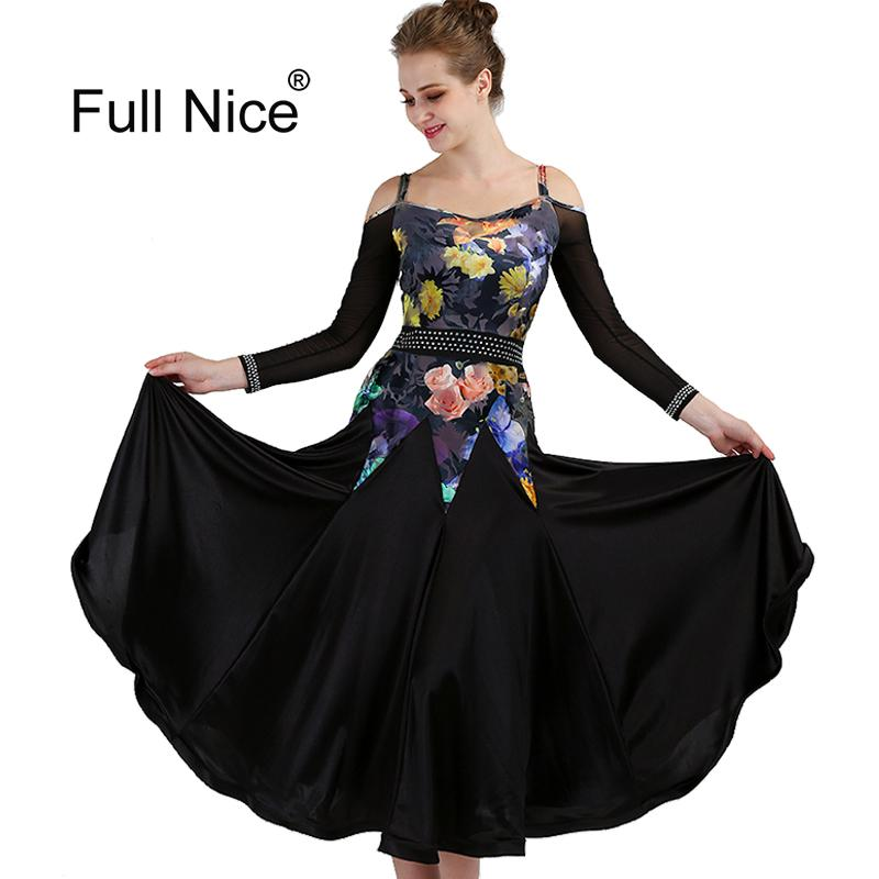 868336841 2019 New High Quality Ballroom Dance Dresses Long Sleeve Flamenco Dancing  Costume Off Shoulder Women Modern Waltz Tango Dancing Dress From Modleline,  ...