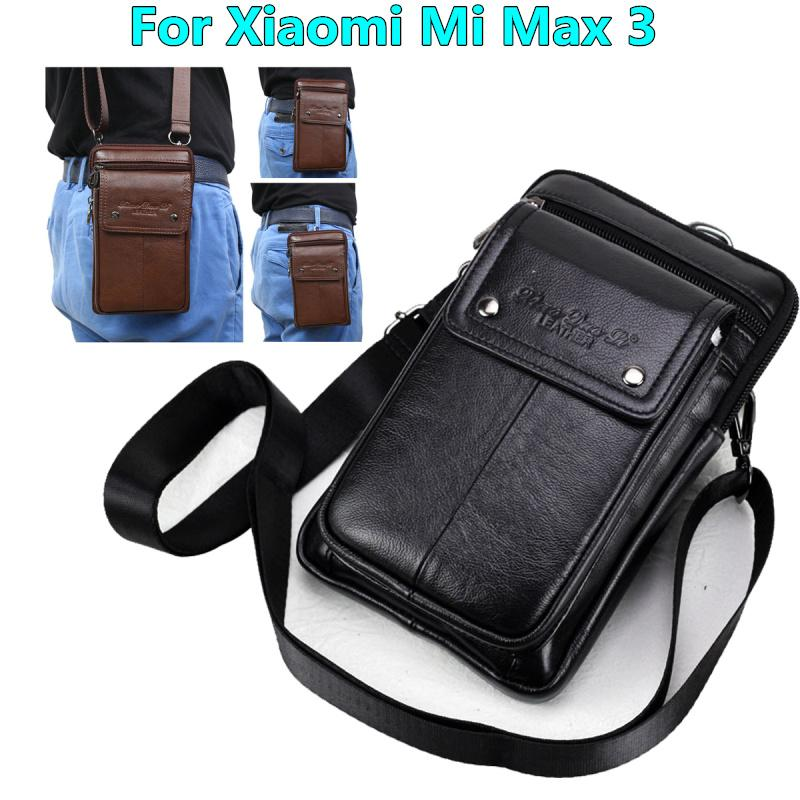 bf069ad61a Genuine Leather Carry Belt Clip Pouch Waist Purse Case Cover For Xiaomi Mi  Max 3 6.9inch Phone Bag Bags Rhinestone Cell Phone Cases Silicone Cell  Phone ...