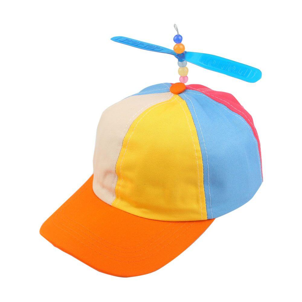 ad7f29219f2 Korean Child Adult Adjustable Propeller Ball Cartoon Baseball Cap Dragonfly  Top Multi Color Patchwork Funny Clown Sun Cap Costume Snapback Caps Fitted  Hats ...