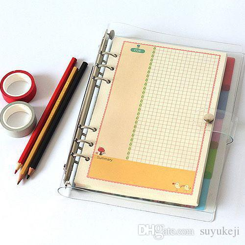 6-Ring Binder Holographic Loose-leaf Notebook, Clear PVC