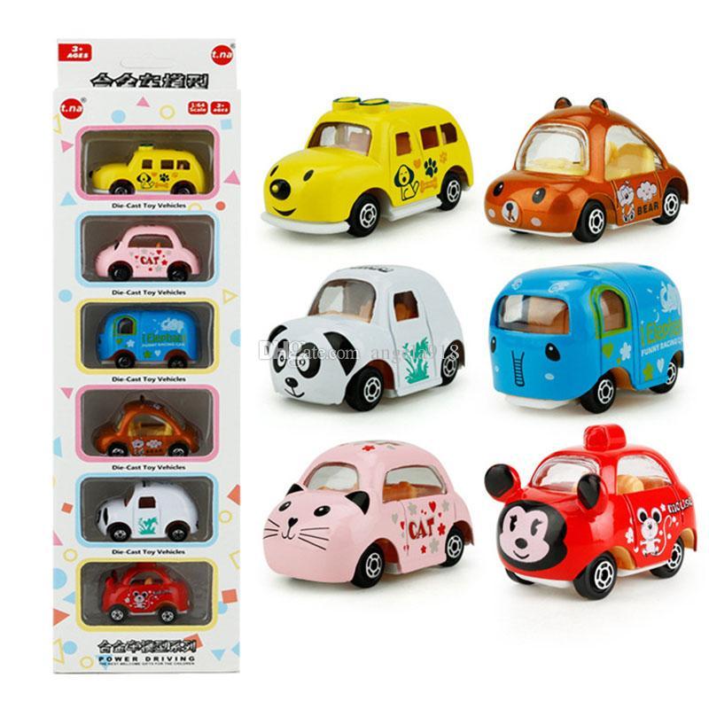 1: 64 Carro-Styling Crianças Carros Brinquedo Puxar Para Trás Modelo Do Carro Elefante cão gato panda mouse Car Presente de Aniversário Brinquedos Educativos Para Crianças C4276