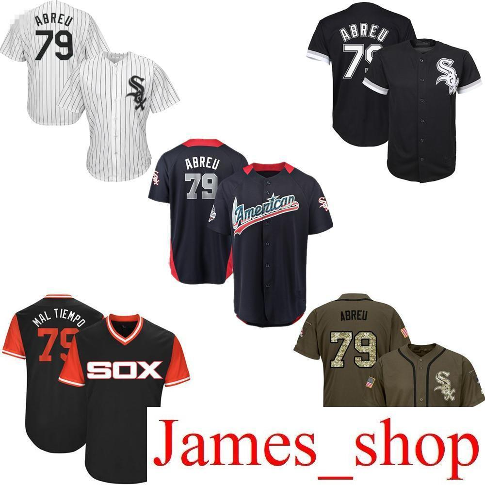 1d47255032 2019 2019 Men Women Youth Kids White Sox Jerseys 79 Abreu Baseball Jerseys  Black White Green Salute To Service Players Weekend All Star From  James shop