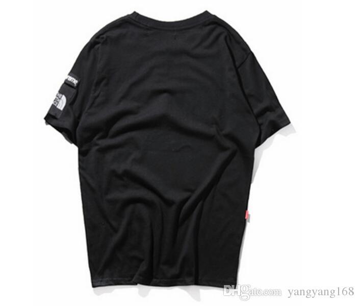 2018 La mode la plus récente justin bieber Shark T-shirt Concepteur de bon sens Printemps été KANYE WEST Impression de lettres Amoureux de vêtements tshi