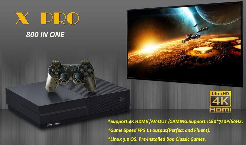64 Bit Desteği 4 K Hdmi Çıkışı Video Oyun Konsolu Retro 800 Klasik Aile Video Oyunları Retro Oyun Konsolu TV X PRO